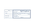 Gift Certificate $10 Each